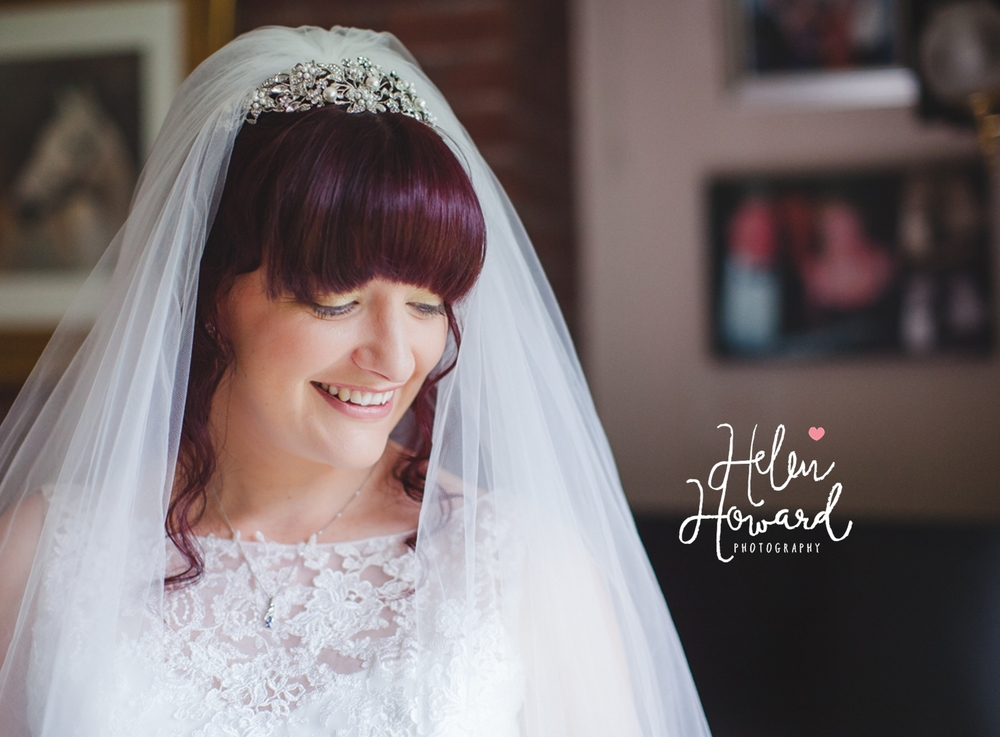 Image of a bride by Helen Howard Photography in staffordshire