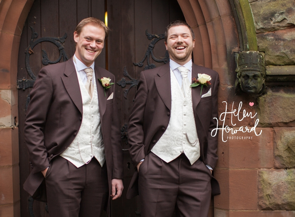 Groom and his best man wedding photography in staffordshire