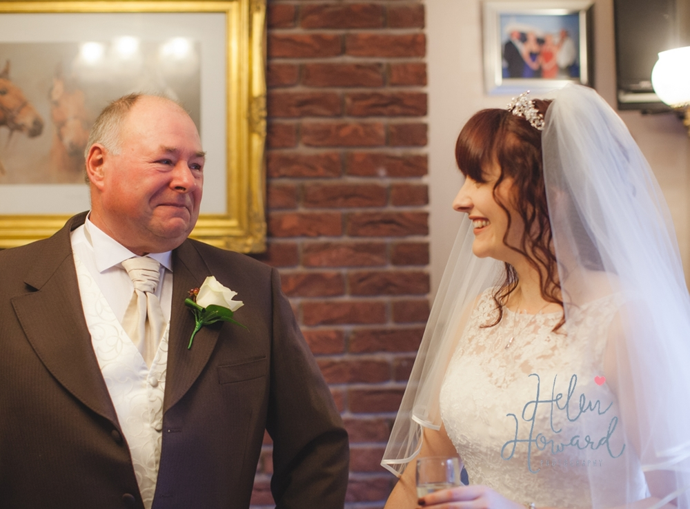 Proud Dad and his daughter Wedding Photography Staffordshire