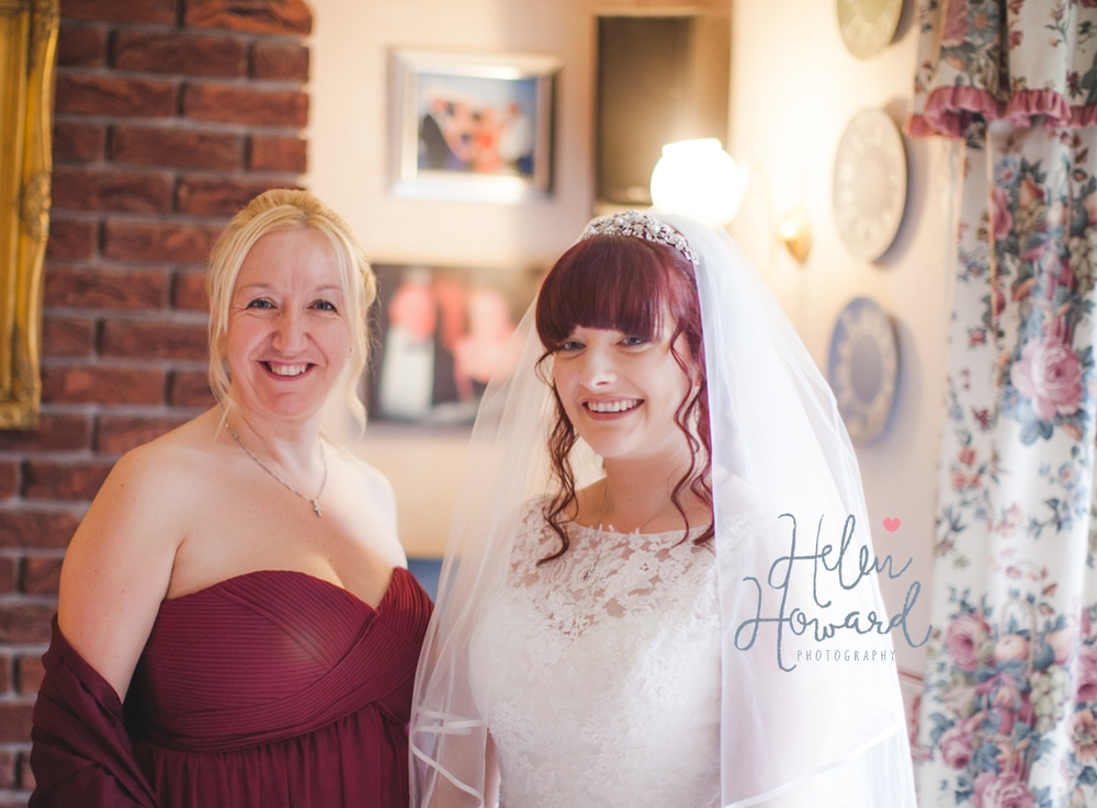 Sisters on a wedding day