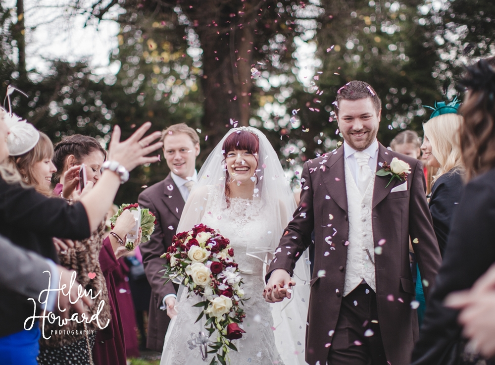 Wedding Photography in staffordshire confetti