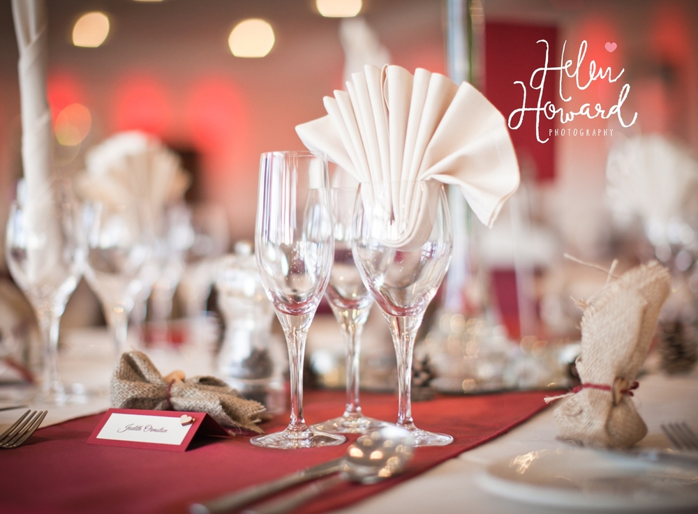 Weddings at The Moathouse Acton Trussell Table decorations