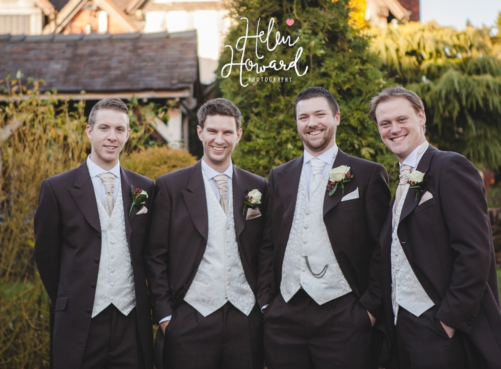All the groomsmen Wedding Photographer in Staffordshire