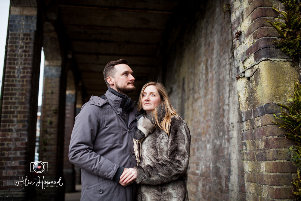 An engagement shoot by Berkhamsted Train Station