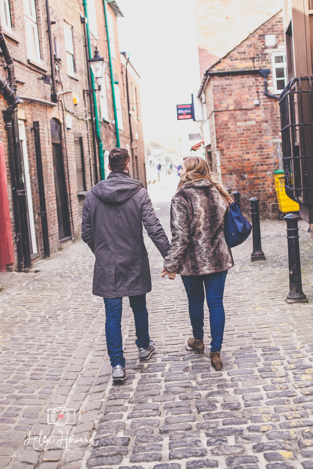 Couples engagement shoot in Berkhamsted Town Centre