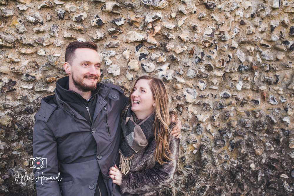 Engagement shoot at Berkhamsted Castle