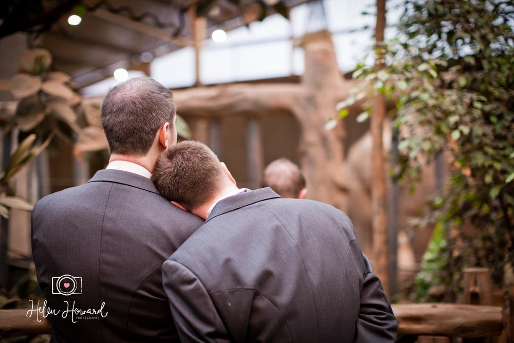 A same sex wedding at Chester Zoo
