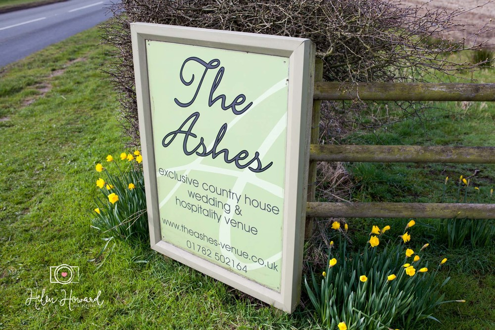 Signage at The Ashes Wedding Venue in Endon