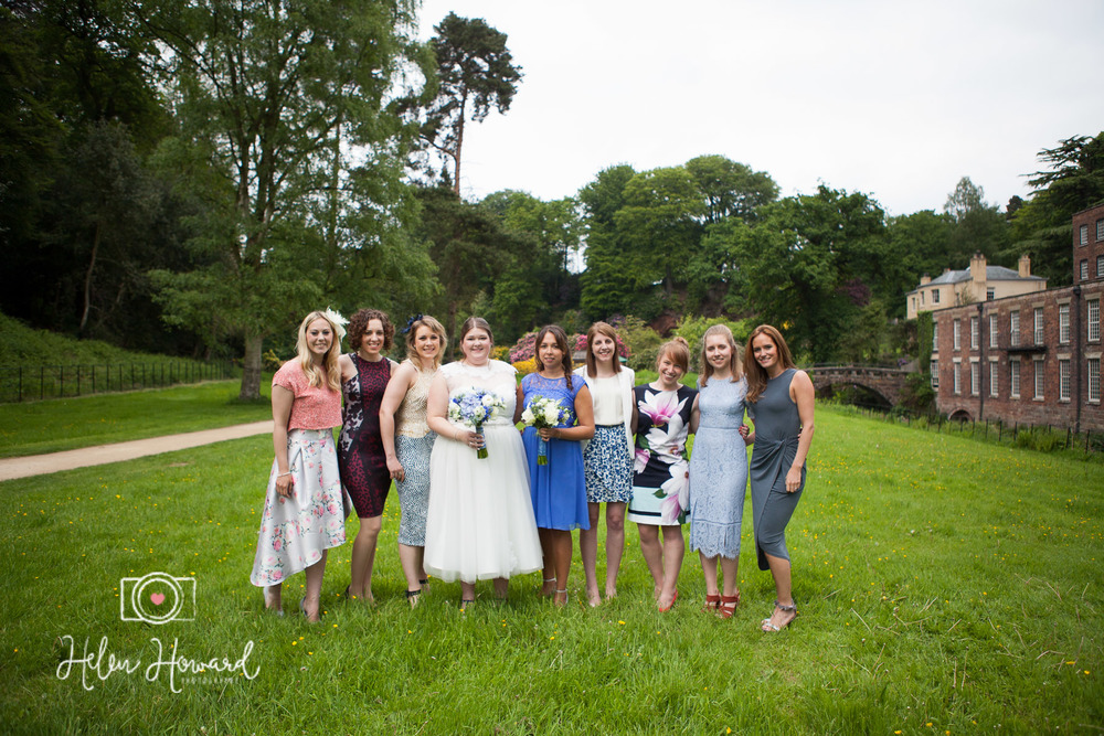 Bride and her friends at Quarry Bank Mill Weddings Styal-1.jpg