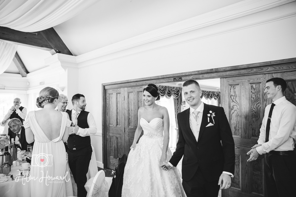 Henley in Arden Wedding Photography Bride and Groom's Entrance -1.jpg