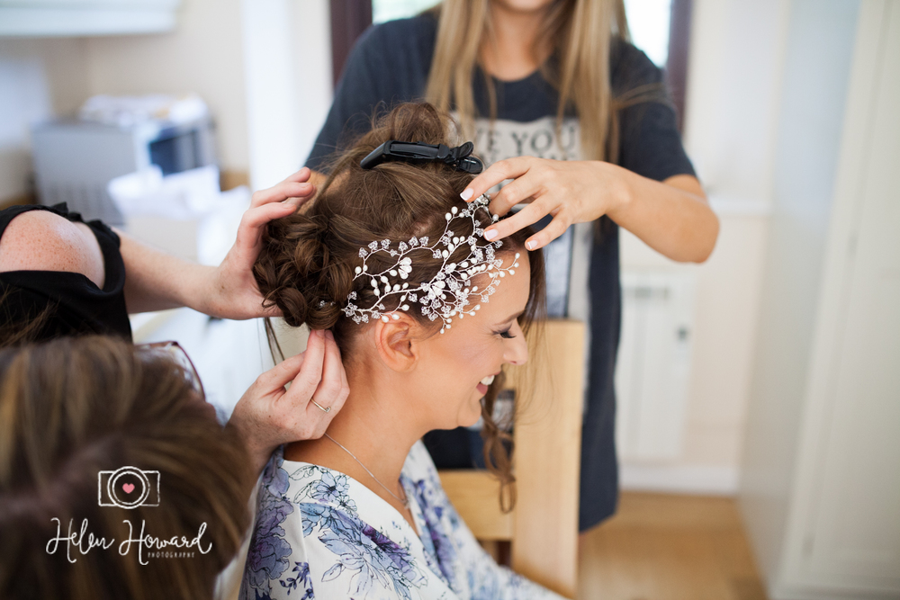 Bridal prep and wedding photography at Pendrell Hall