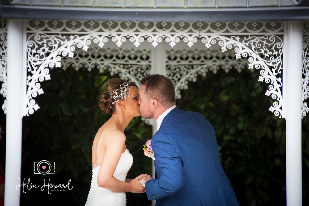 First Kiss Wedding Photography at Pendrell Hall