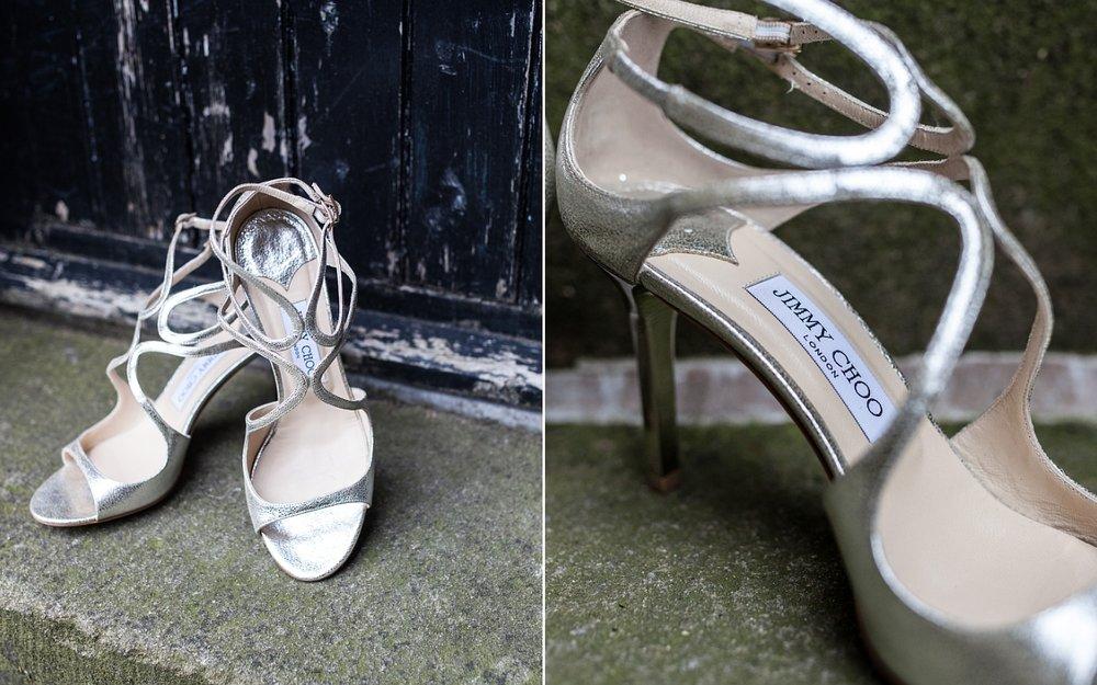 Jimmy Choo Wedding Shoes Derbyshire Wedding Photographer