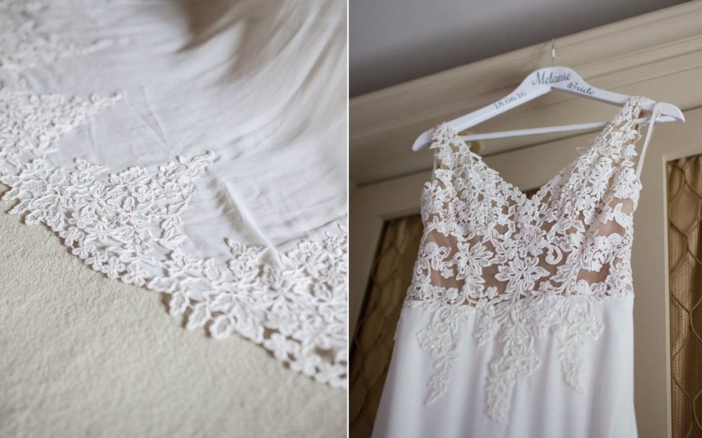Wedding dress detail Upper House Hayfield