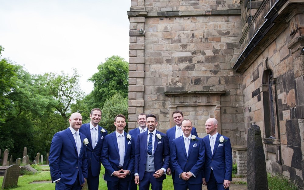 Groomsmen wedding Photographer Chapel En Le Frith