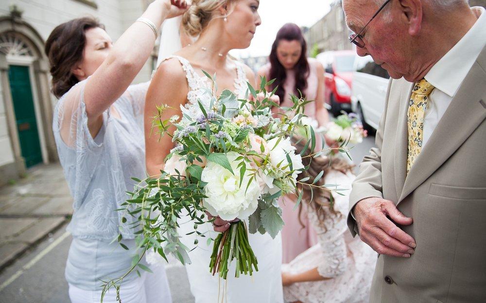 Beautiful Bride Bouquet at Derbyshire wedding