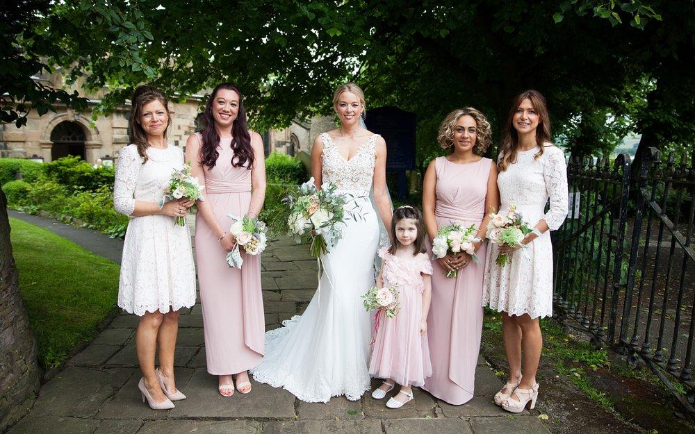 Derbyshire Wedding Photographer Bride and Bridesmaids