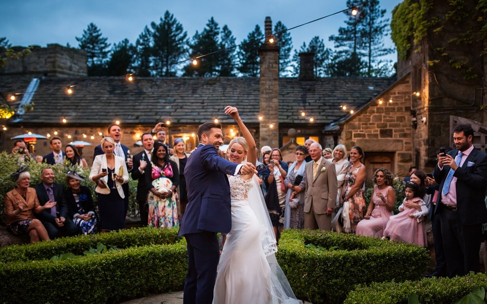 Outdoor First Dance at Upper House Hayfield