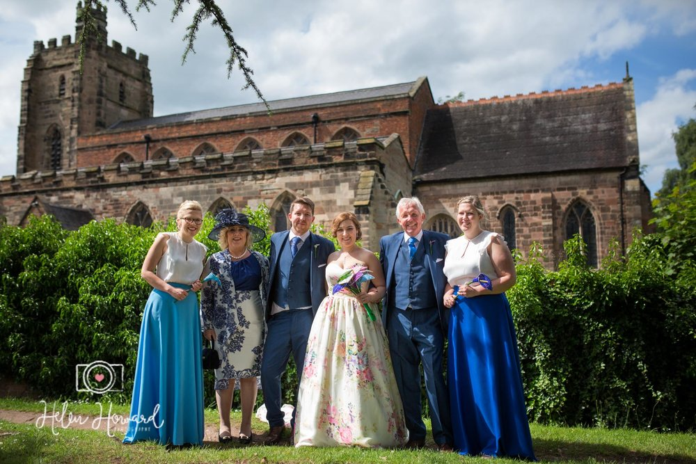 A family Photograph at St Chad's Church Lichfield