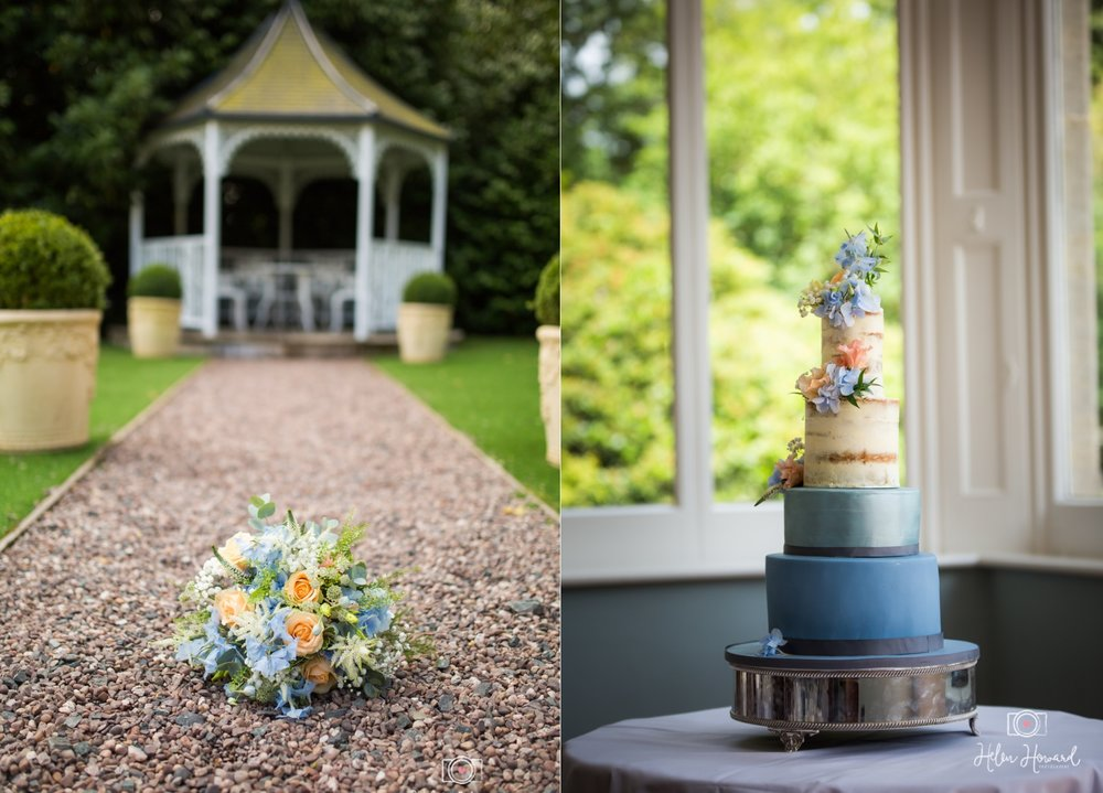 Outdoor Wedding Ceremony at Pendrell Hall Cake and Flowers.jpg