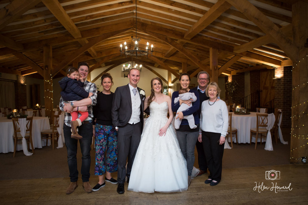 Kathryn and Jordan with the Barnes Family at Packington Moor's Final Wedding