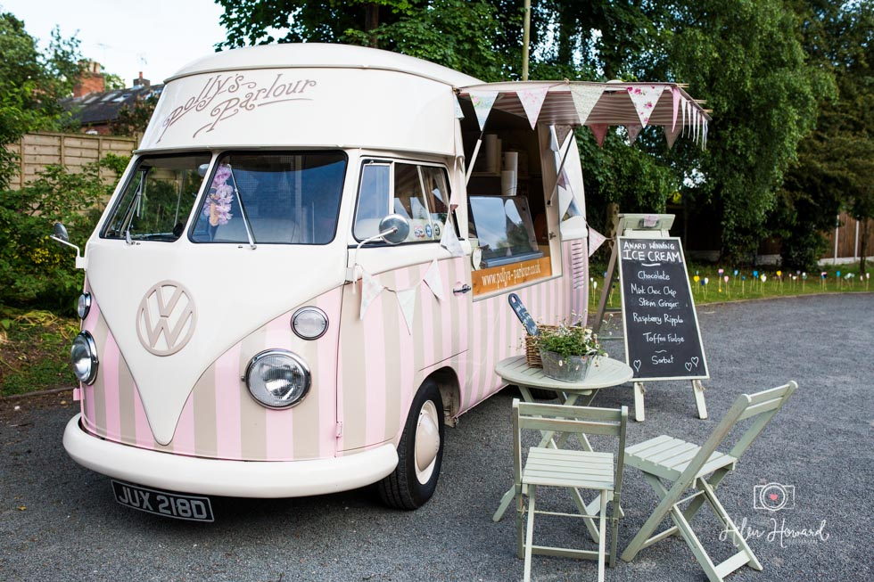 Polly's Parlour Vintage Ice Cream Van Staffordshire