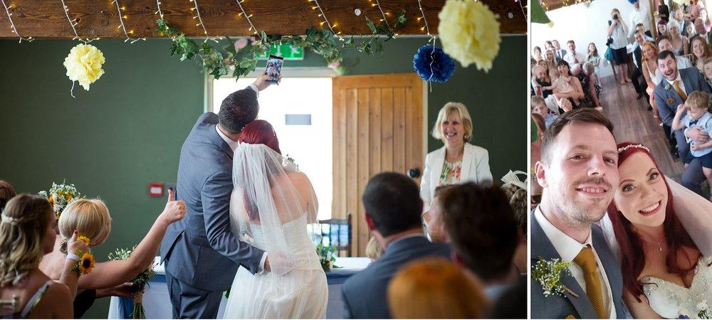 Bride and Groom Selfie The Granary at Fawsley.jpg