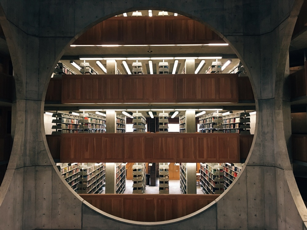 exeter, new hampshire    phillips exeter library by louis kahn