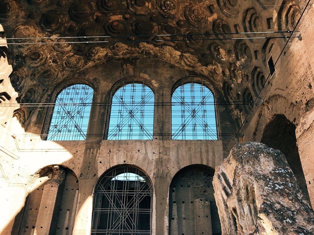 rome, italy   basilica of maxentius