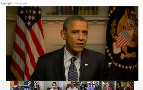 President Obama on Google Hangouts