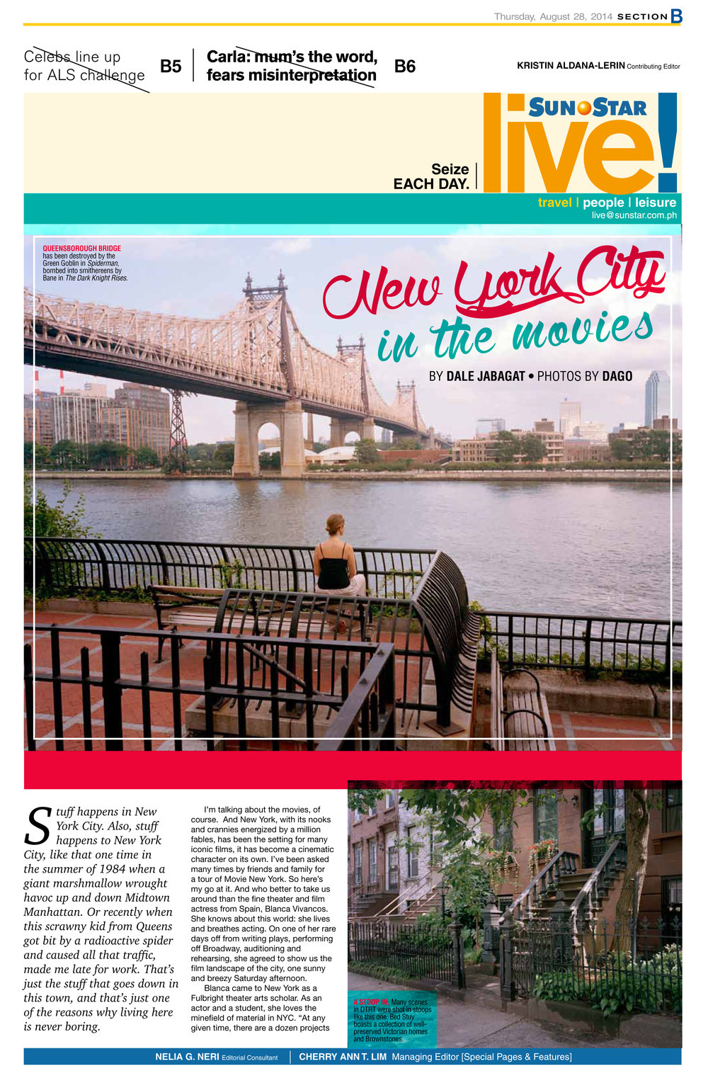 NYC in the Movies, featuring Blanca Vivancos