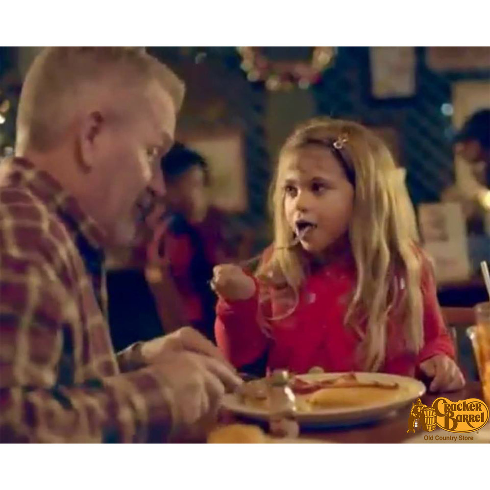 Camo's Cracker Barrel Christmas TV Commercial