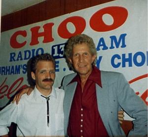 Camo, with Porter Wagoner, at 1390 CHOO in Ajax, Ontario, Canada