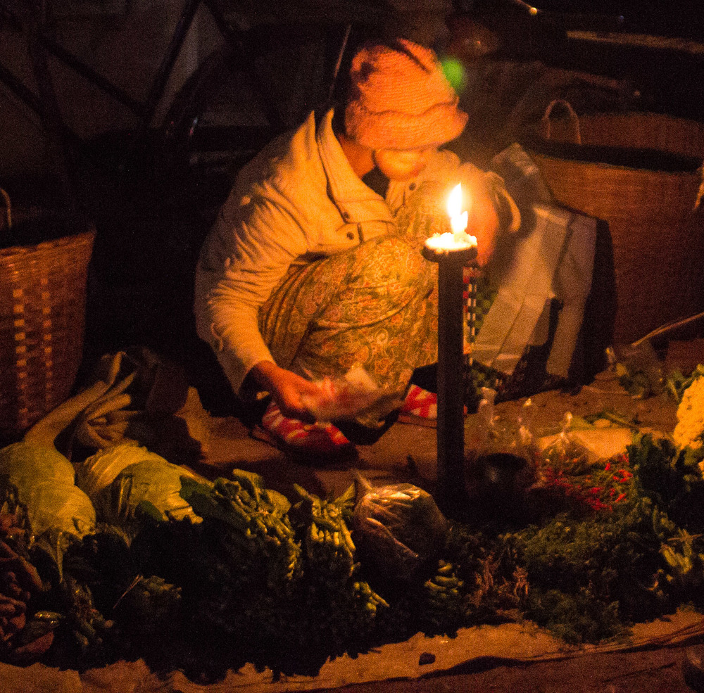 Market by candlelight
