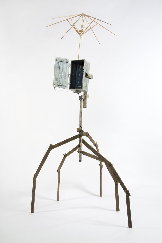 Symbiosis #2: Test Cabinet, 2009 (cabinet & umbrella open)