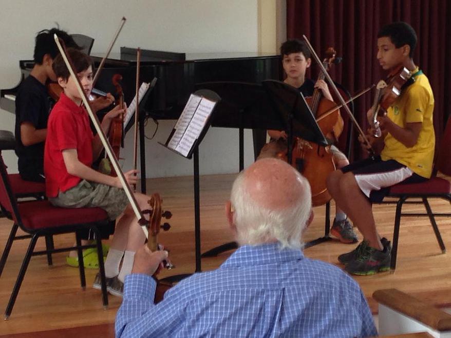 Legendary BSO concertmaster  Joseph Silverstien master class at BSM