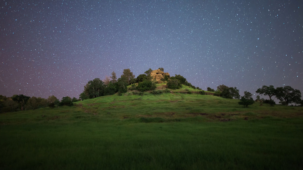 Upper Bidwell Park - Monkey Face at Night
