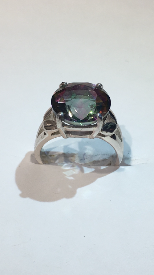 vintage jewelry mystic product topaz cut square ring magick rings
