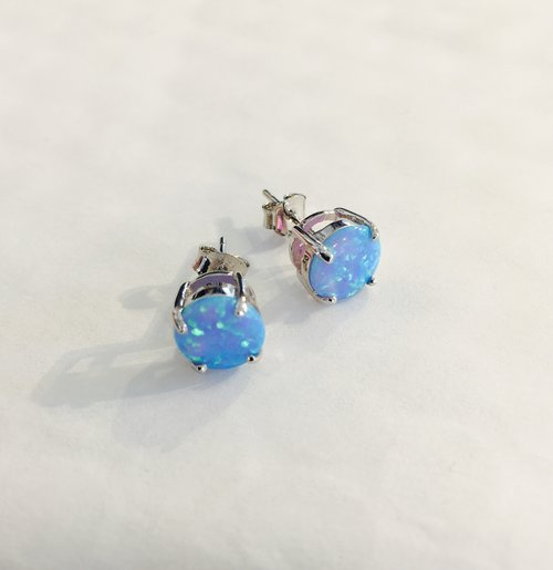 stud fashion bridal party pink women blue wedding opal silver fire sterling collections products earrings com purple dealzonlinedirect for
