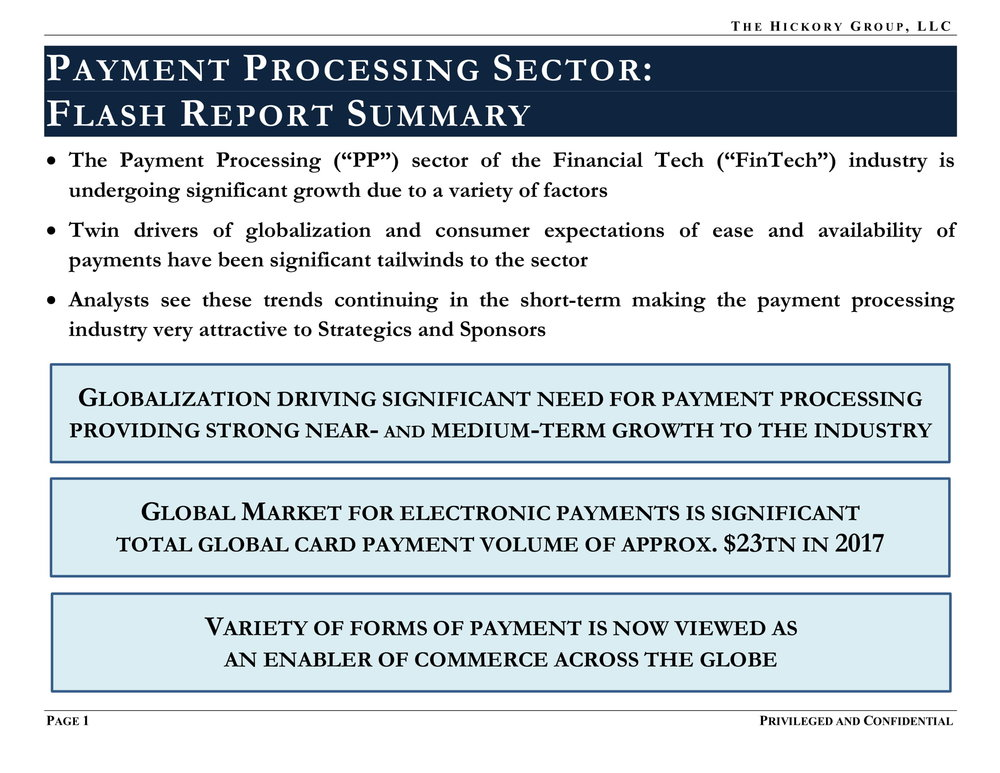 FINAL_THG FinTech Industry - Payment Processing Sector Flash Report (27 March 2019) Privileged & Confidential-04.jpg