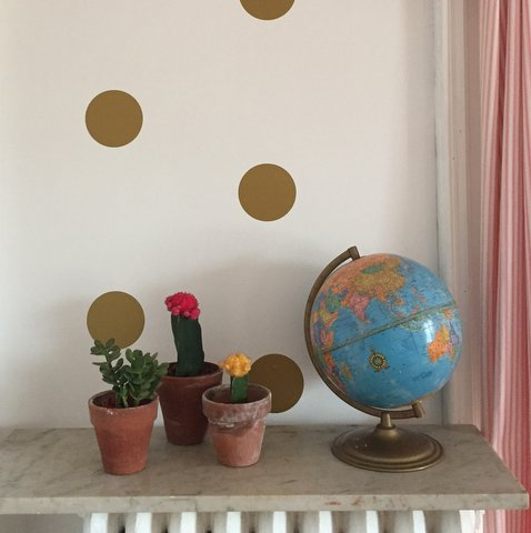 Cacti and Jade plant. Not my usual go to but they work with a colorful knit tapestry I found recently for my daughters room.