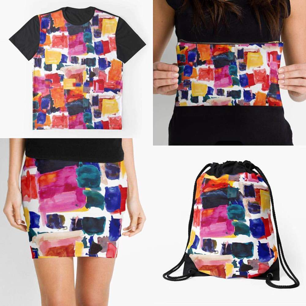 Watercolour Squares by Crystal