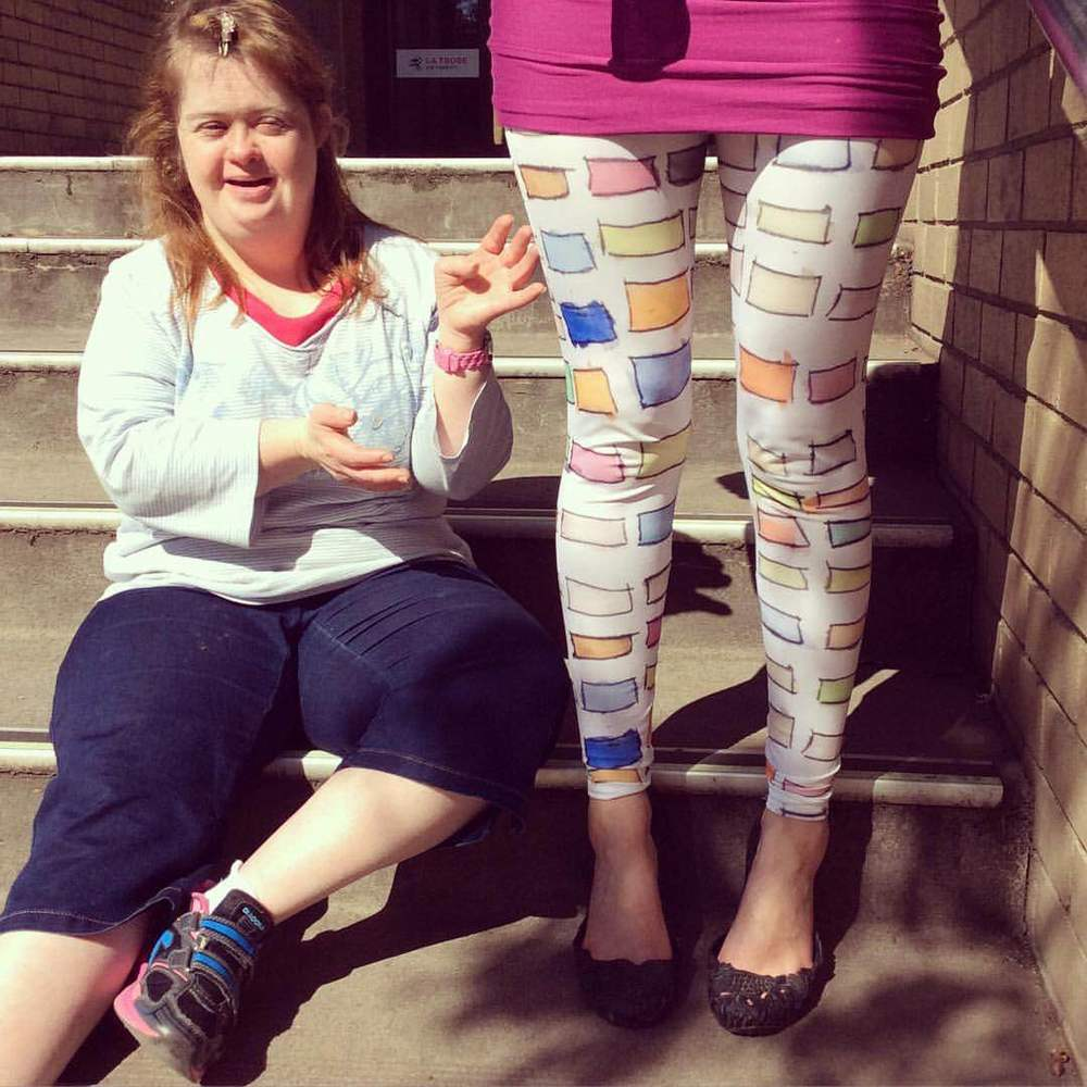 Awesome leggings Designed in Melbourne by Katrina Jackman