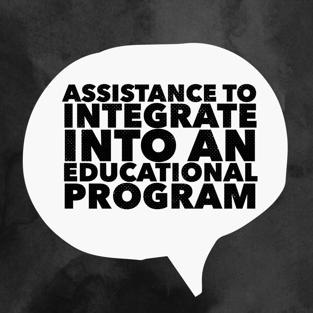 Assistance to Integrate into an Educational Program