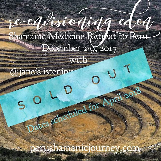 I am beyond excited for the 12 souls who are coming with me and Jane @janeislistening in Peru in December!  We are now sold out on the retreat and started a waiting list for the upcoming retreat in April 2018.  If you are interested to hear more check PeruShamanicJourney.com and contact us to be included in the mailing list.  In this extraordinary journey with Master Shamans, we will dive in depth into our own Healing, our true self, our life purpose and explore the magical lands of Peru, the Sacred Valley of the Incas, the Machu Pichu, and much more.  Looking forward to sharing our passion and love of Peru traditions with You! ❤  #peru #pisac #retreat #shamanism #heal #theSanctuaryHeal #mind #spirit #transformation #transcend #love #gratitude #healing #healer #shamanism #plantmedicine #cacao #huachuma #sanpedro #grandmother #ayahusca #cusco #machupichu