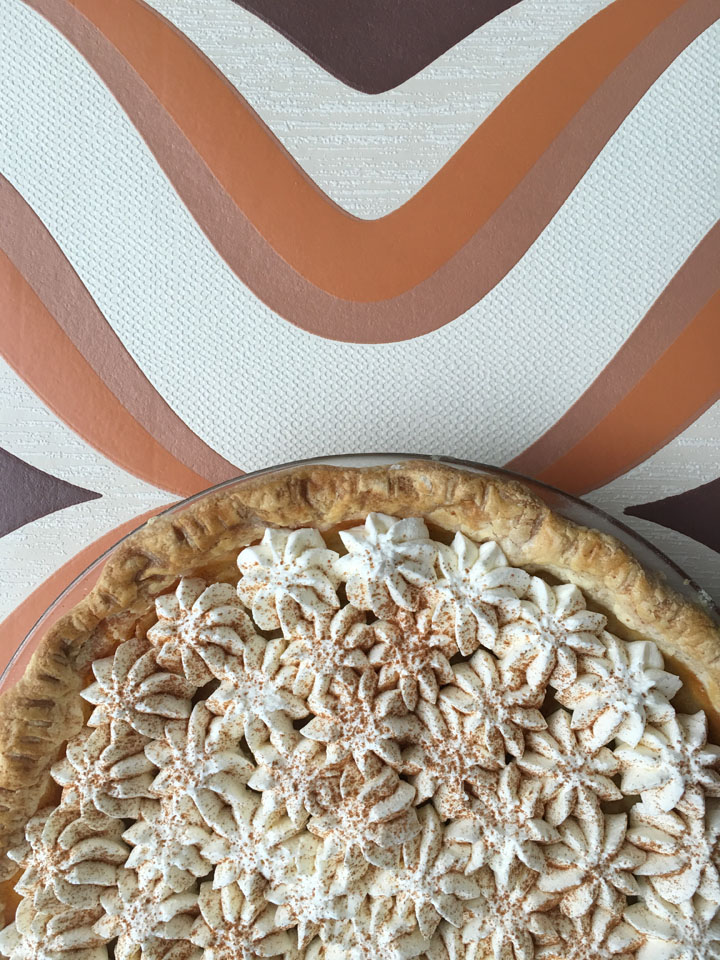 Another view of our apple cider pie.
