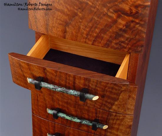 Genial Vertical Wall Cabinet Claro Walnut Open Drawer