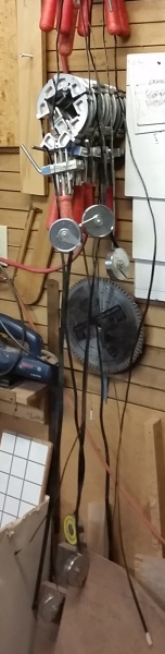 Sigh...here are my Merle clamps hanging on the shop wall. What a mess.