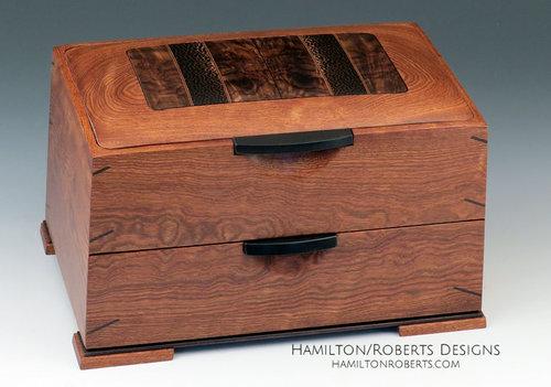 Double Decker Box 05 Walnut And Black Palm In Chechen Hamilton