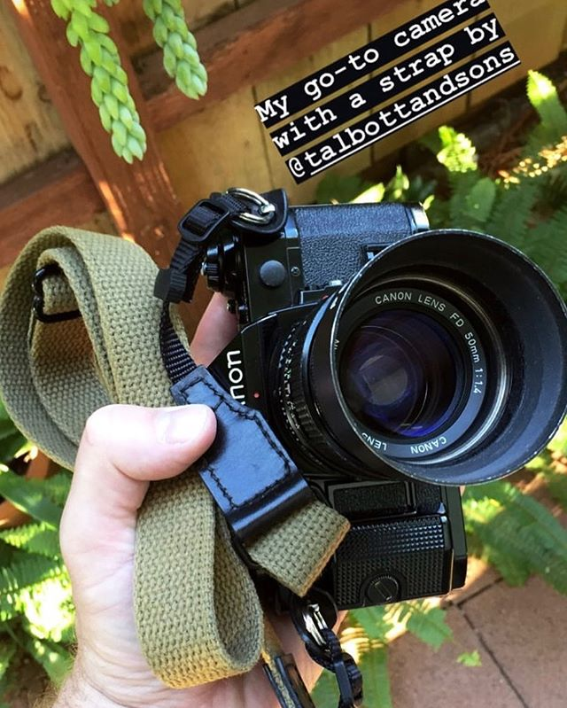 My bud @evanmcginnis has been field testing our cotton webbing strap prototype. We will be releasing it in a variety of colors next year. Thanks for sharing the pic Evan!